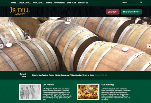 JR Dill Winery Homepage